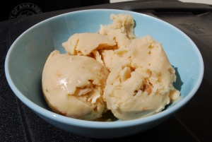 tamarind ice cream with a coconut milk base